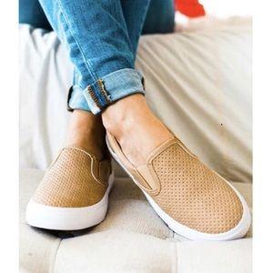 RESTOCKED   KELSEY   Perforated Slip-On Sneakers